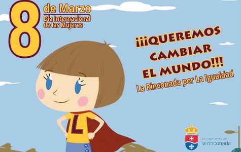 Cartel Ayto San José 8 marzo